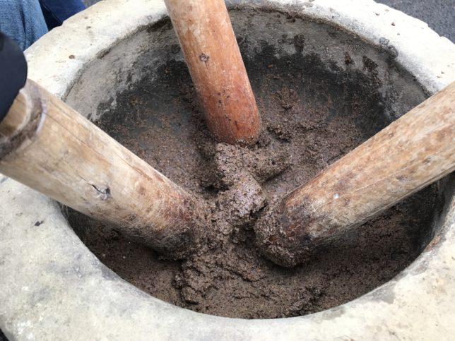 椿油の製法 煮出し法