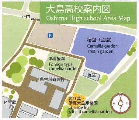大島高校椿園Map~椿の楽園 伊豆大島椿ガイドより~