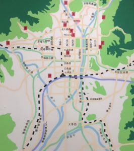 京都府立植物園椿展出展MAP 20170325_1