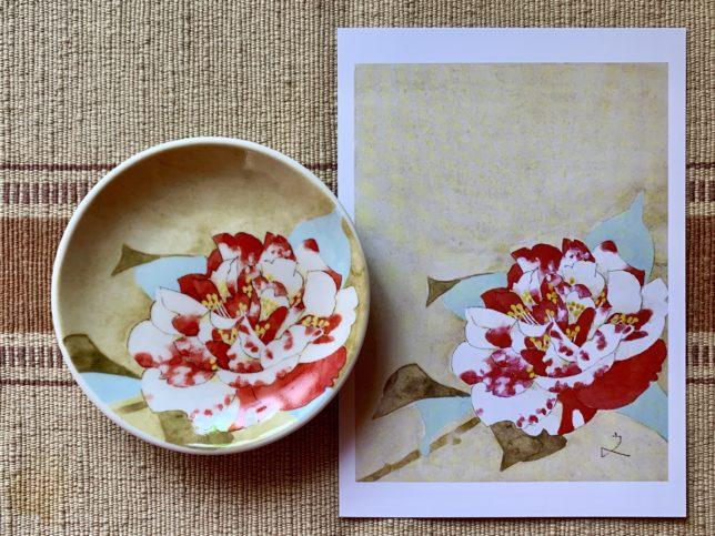 サライ堀文子の太神楽の豆皿